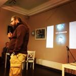 Виктор Лягушкин делает доклад в Санкт-Петербурге