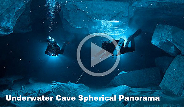 Underwater Cave Spherical Panorama