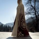 A local woman Anzhella Kucherenko in a national dress