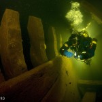 In the hold of Luisa shipwreck