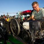 UW archaeologist Roman Prokhorov refills empty tanks
